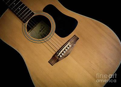 Photograph - Acoustic Guitar by Valerie Morrison
