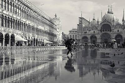Acqua Alta, Piazza San Marco, Venice, Italy Art Print