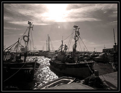 Art Print featuring the photograph Acre  Fishing Port by Arik Baltinester