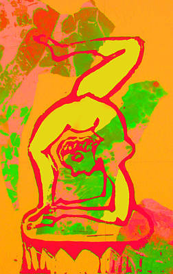 Lino Mixed Media - Acrobat 1 by Adam Kissel
