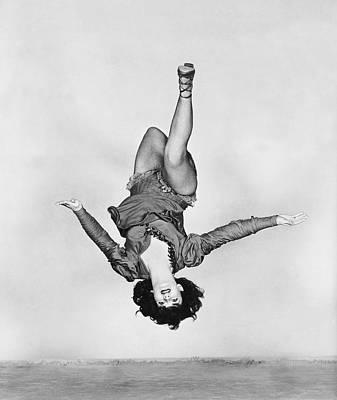 Leotard Photograph - Acrobat Dancer Miriam Lavelle by Underwood Archives