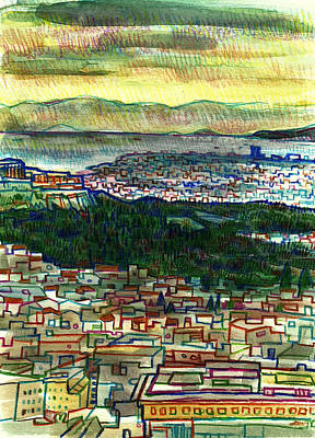 Painting - Acropolis And Ancient Agora by Robert Spittlehouse