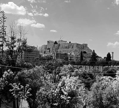 Photograph - Acropolis Black And White by Robert Moss