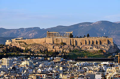 Photograph - Acropolis In Athens During Sunset by George Atsametakis