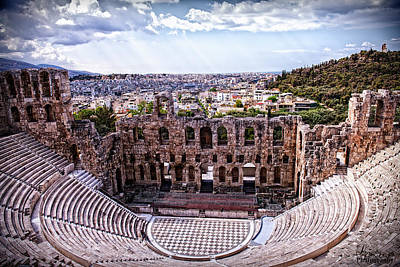 Art Print featuring the photograph Acropolis by Linda Constant
