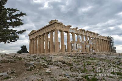 Acropolis Of Athens, Greece Print by Ivan Batinic