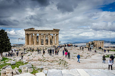Photograph - Acropolis - Tourist Attraction by Debra Martz