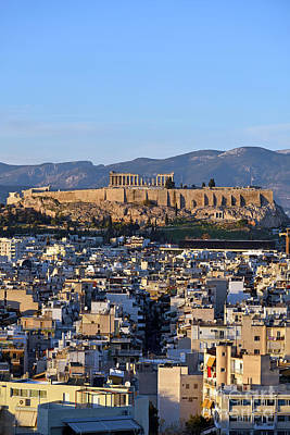 Photograph - Acropopis In Athens During Sunset by George Atsametakis