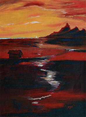 Painting - Across Amber Fields To The Sea by Donna Blackhall