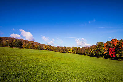 Photograph - Across An Autumn Field by Chris Bordeleau