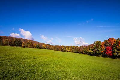 Photograph - Across An Autumn Field by Chris Bordeleau