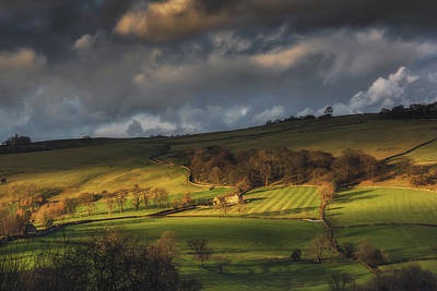 Across Dovedale At Sunset Art Print