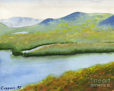 Painting - Across Fourth Lake by Robert Coppen