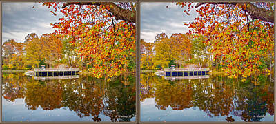 Across Lake Waterford - 3d Stereo X-view Art Print