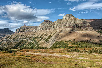 Photograph - Across Logan Pass by John M Bailey