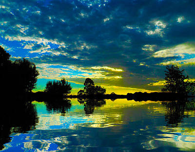 Photograph - Across Poyo Lake by Mark Blauhoefer