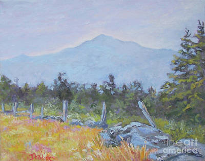 Mt. Monadnock Painting - Across Summer Pastures by Alicia Drakiotes
