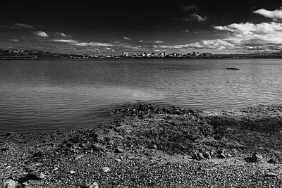Mark Myhaver Royalty Free Images - Across The Bay-BW Royalty-Free Image by Mark Myhaver