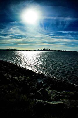 Thomas Kinkade - Across the bay by Joe Torres