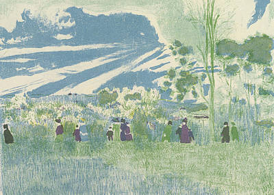 Relief - Across The Fields by Edouard Vuillard