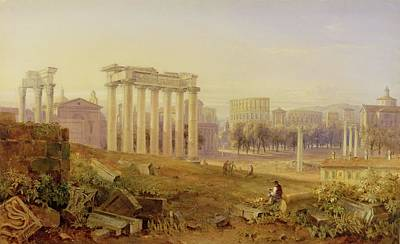 Ruins Photograph - Across The Forum - Rome by Hugh William Williams