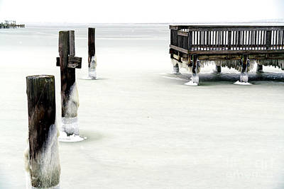 Photograph - Across The Frozen Bay At Long Beach Island by John Rizzuto