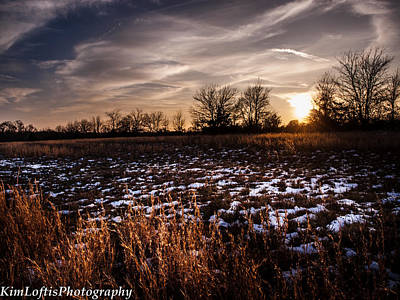 Photograph - Across The Frozen Fields  by Kim Loftis