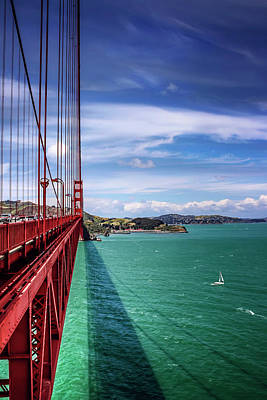 Gate Photograph - Across The Golden Gate Bridge San Francisco by Carol Japp