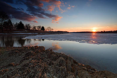 Reflection Photograph - Across The Ice by Benjamin DeHaven