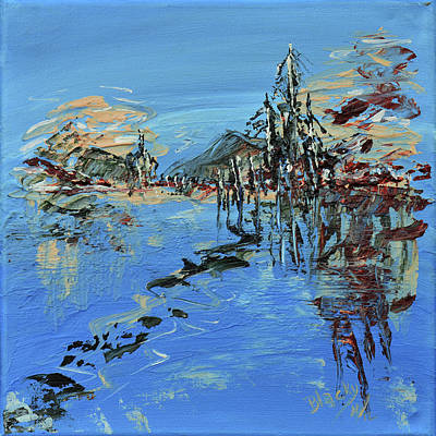 Painting - Across The Lake by Donna Blackhall