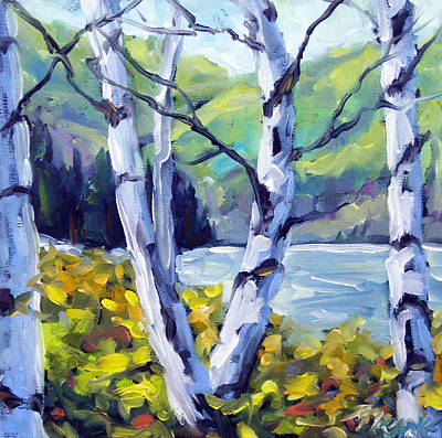 Oil Painting - Across The Lake by Richard T Pranke