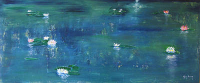 Painting - Across The Lily Pond by Gary Smith