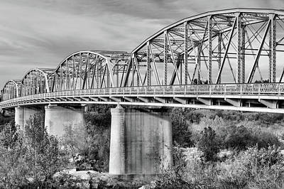 Photograph - Across The Llano Black And White by JC Findley
