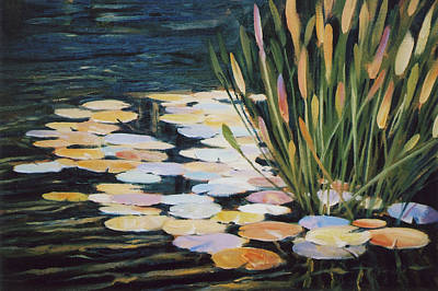 Across The Pond Art Print by Ed Lucey