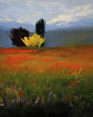Painting - Across The Prairie by Nancy Merkle