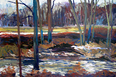 High Key Painting - Across The River by Charlie Spear