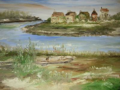 Across The River Art Print by Edward Wolverton