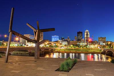Des Moines Photograph - Across The River by John Murphy
