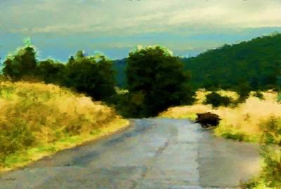 Across The Road Into The Fields Original by Lenka Rottova