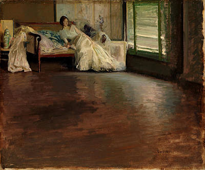 Chaise Longue Painting - Across The Room by Edmund CharlesTarbell