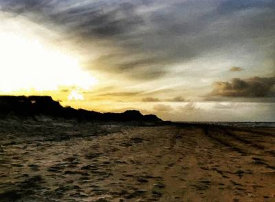 Mixed Media - Across The Sands by Abbie Shores