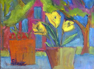 Painting - Across The Street From My Window Sill  by Betty Pieper