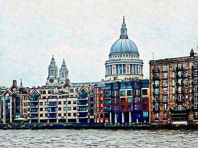 Photograph - Across The Thames To St Paul's Cathedral by Dorothy Berry-Lound