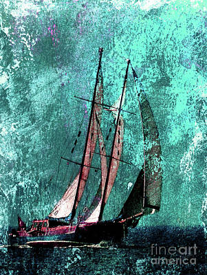 Across The Turquoise Sea Art Print by Callan Percy