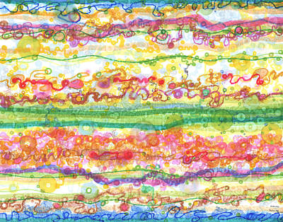 Cosmology Drawing - Across The Universe by Regina Valluzzi