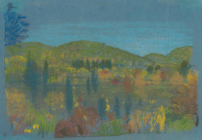 Pastel - Across The Valley by Arthur Bowen Davies