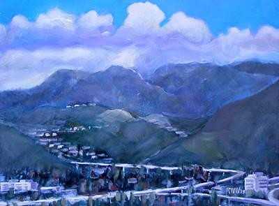 Across The Verdugo Hills Art Print by Richard  Willson