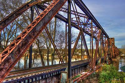 Photograph - Across The Water 6th Street Rr Bridge Augusta Georgia Art by Reid Callaway