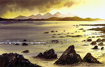 Scotland Painting - Across To Gigha And Jura by Paul Dene Marlor
