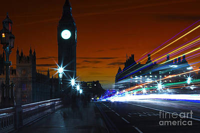Photograph - Across Westminster Bridge Pop Art by John Rizzuto